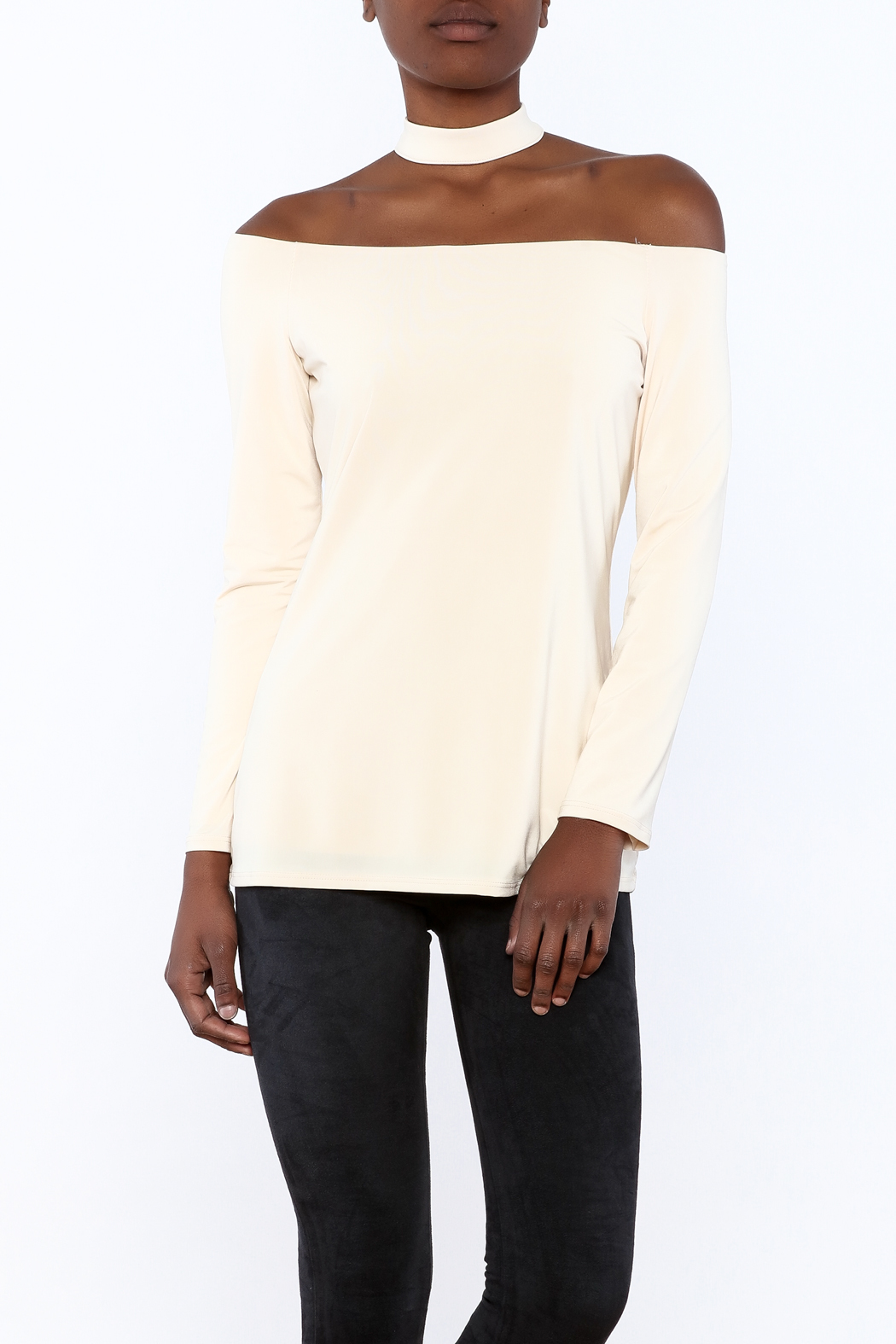 Lisa & Lucy Oyster Choker Top - Main Image