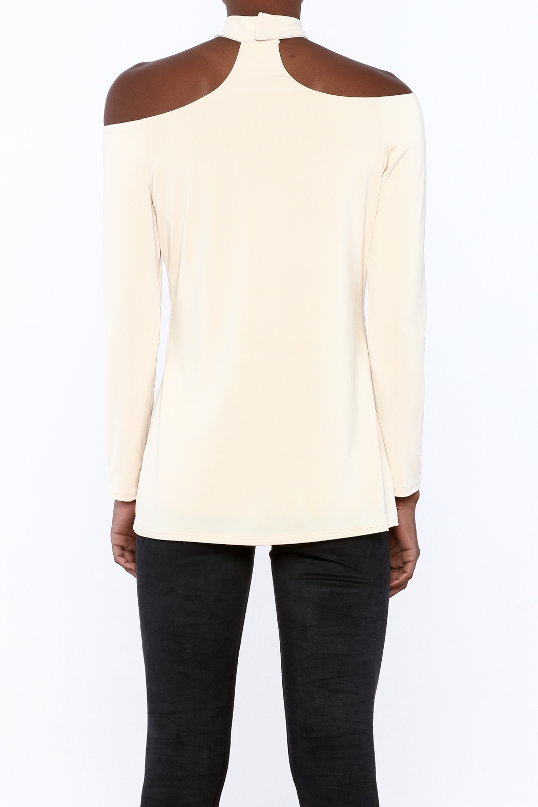 Lisa & Lucy Oyster Choker Top - Back Cropped Image