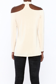 Lisa & Lucy Oyster Choker Top - Back cropped