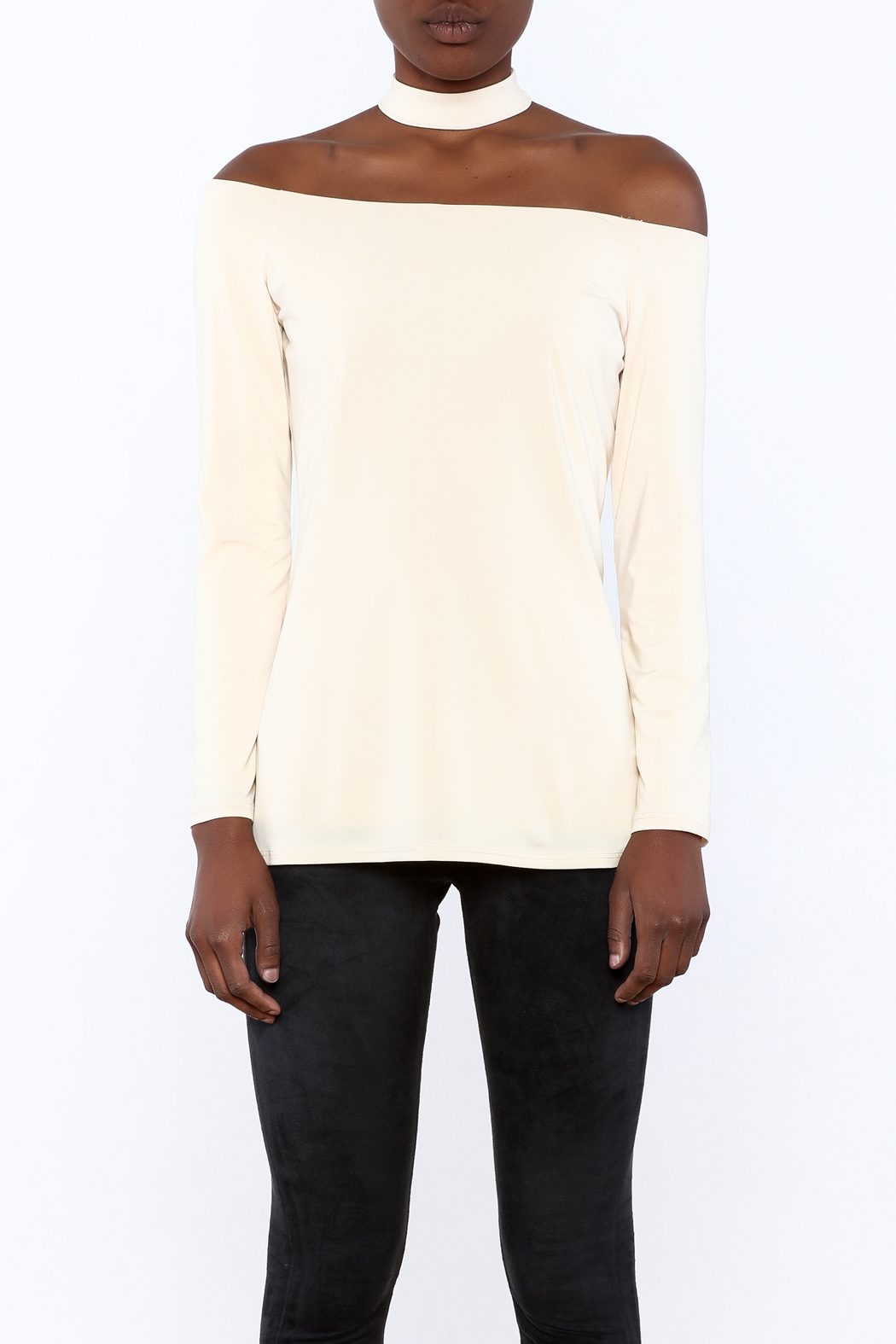 Lisa & Lucy Oyster Choker Top - Side Cropped Image