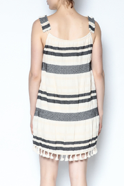 Lisa & Lucy Smocked Stripped Tassel Dress - Back cropped