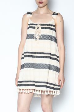 Shoptiques Product: Smocked Stripped Tassel Dress