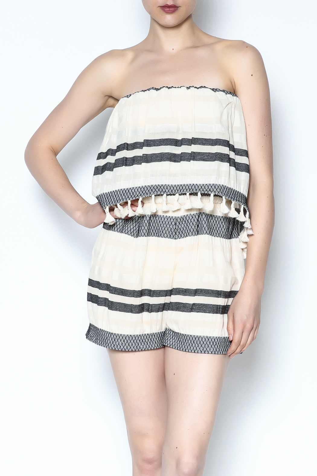 Lisa & Lucy Strapless Popover Romper - Main Image