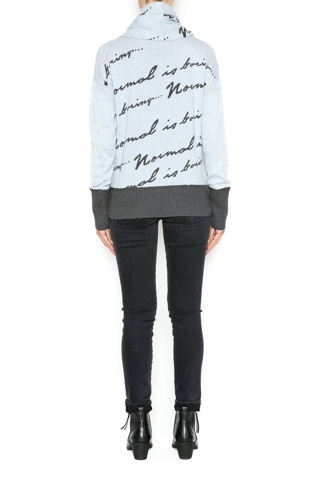 Lisa Todd Normal Is Boring Sweater - Side Cropped Image