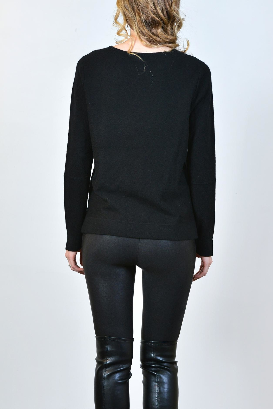 Lisa Todd Crossword Puzzle Cashmere Sweater - Front Full Image