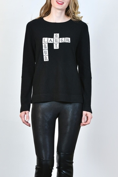 Shoptiques Product: Crossword Puzzle Cashmere Sweater