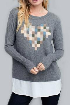Shoptiques Product: Graphic Heart Sweater