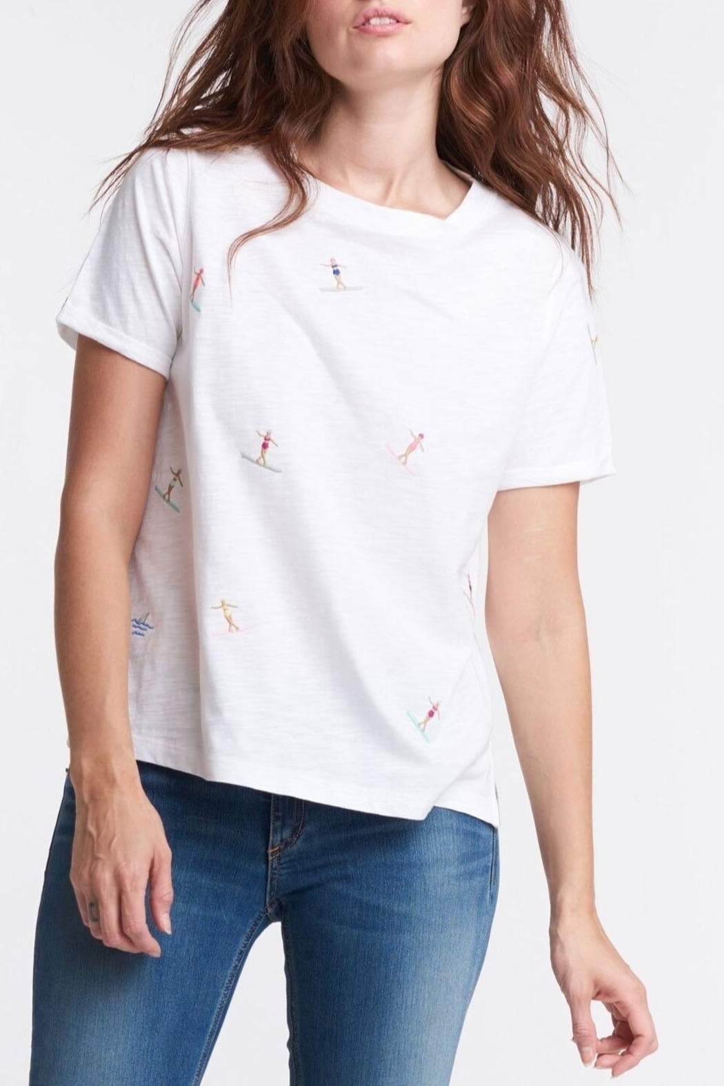 Lisa Todd Surfs Up Tee - Front Cropped Image