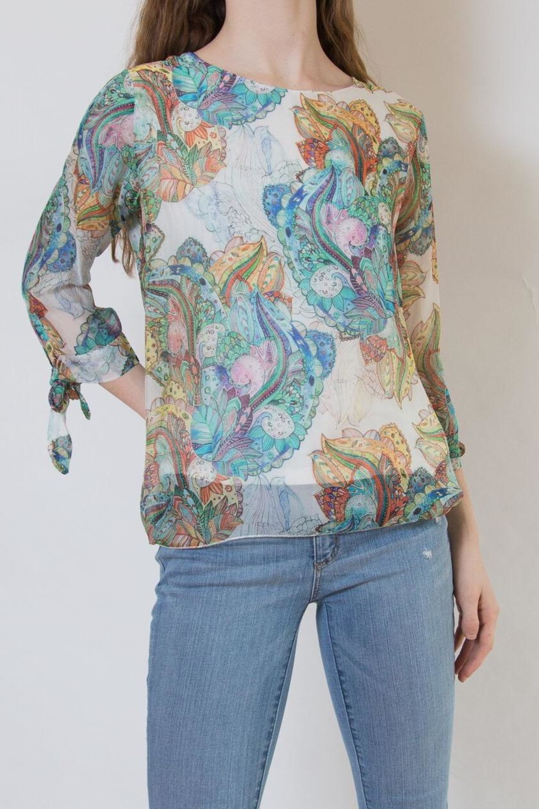 lisette L Paisley Blouse - Front Cropped Image