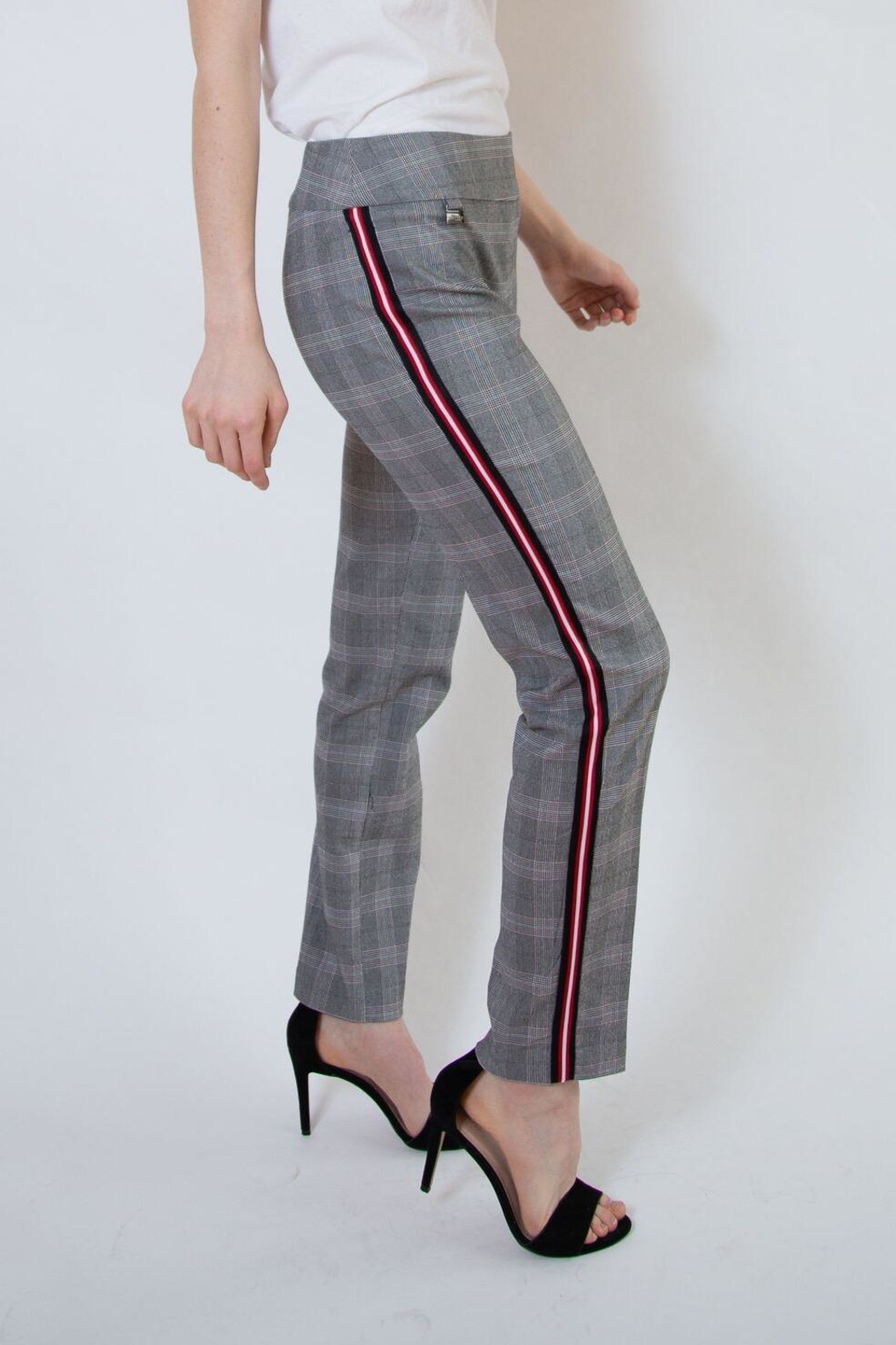 lisette L Plaid Pants With Stripe - Front Full Image