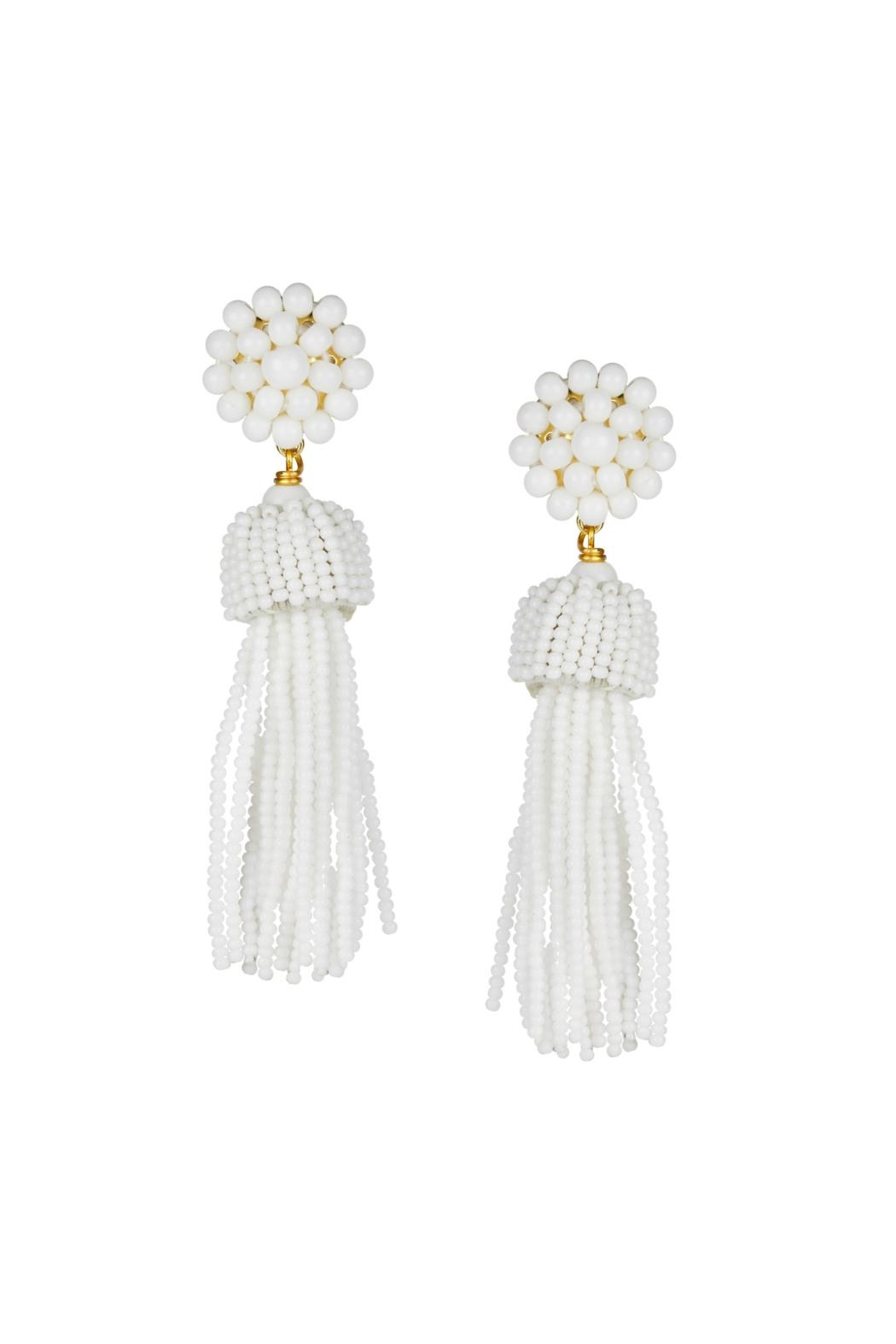 Lisi Lerch Beaded Tassel Earrings - Front Cropped Image