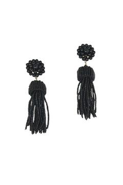 Lisi Lerch Black Tassel Earrings - Product List Image