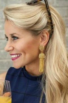 Lisi Lerch Golden Tassel Earrings - Alternate List Image