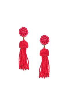 Lisi Lerch Pink Tassel Earrings - Product List Image