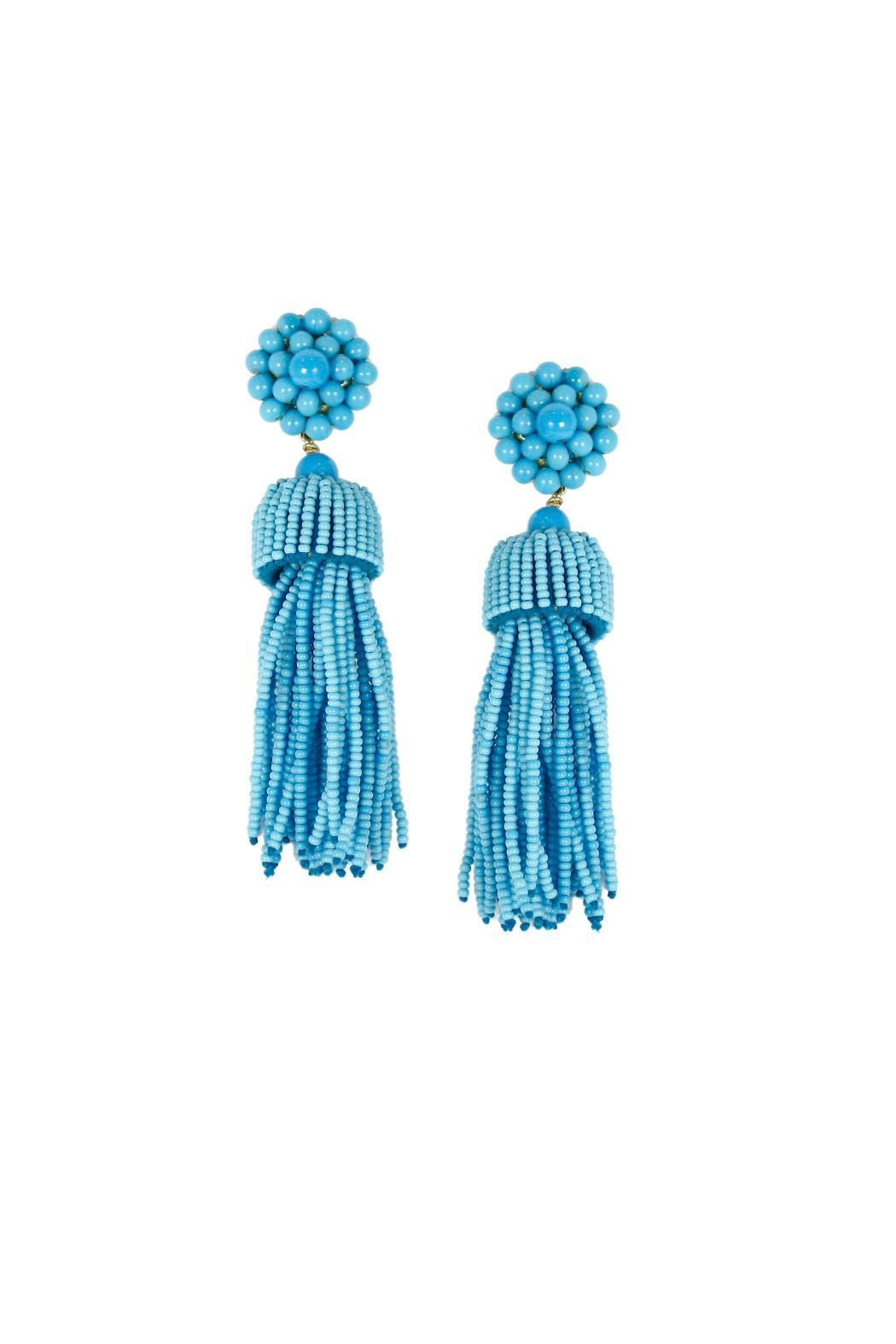 Lisi Lerch Tassel Turquoise Earrings - Front Cropped Image