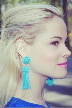Lisi Lerch Turquoise Tassel Earrings - Alternate List Image