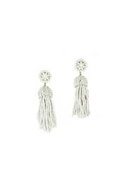 Lisi Lerch White Tassel Earrings - Product Mini Image