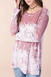Listicle Alana Top Rose - Front full body