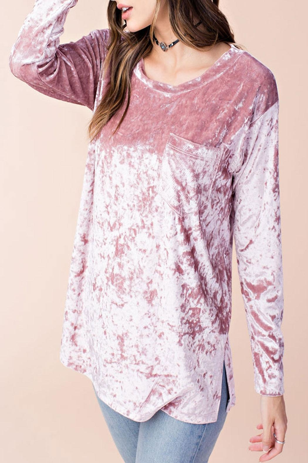 Listicle Alana Top Rose - Side Cropped Image