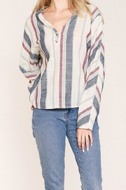 Listicle Ally Striped Top - Product Mini Image