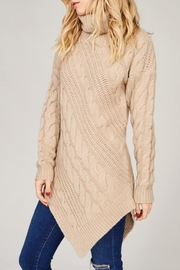 Listicle Asymmetrical Turtleneck Tunic - Product Mini Image
