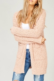 Listicle Blush Knit Cardigan - Front cropped