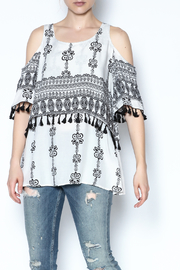 Listicle Boho Cold Shoulder Top - Product Mini Image