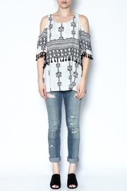 Listicle Boho Cold Shoulder Top - Front full body