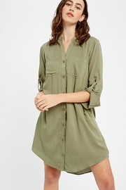 Mint Cloud Boutique Button Down Shirt Dress - Product Mini Image