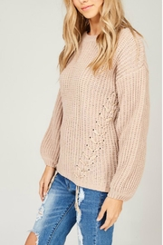 Listicle Chenille Knit Sweater - Side cropped