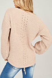 Listicle Chenille Knit Sweater - Back cropped