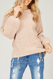 Listicle Chenille Knit Sweater - Front cropped