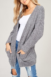 Listicle Chenille Pocket Cardigan - Product Mini Image