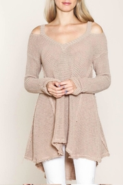 Listicle Cold Shoulder Sweater - Product Mini Image