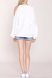 Listicle Cold Shoulder Sweatshirt - Front full body