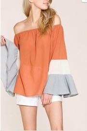 Listicle Color Block Off-Shoulder - Product Mini Image