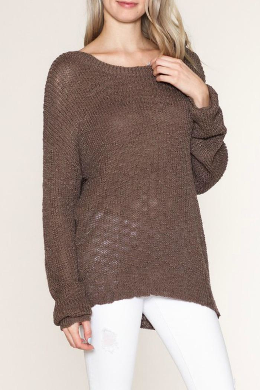 Listicle Cozy Girl Sweater - Main Image