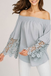 Listicle Crochet Sleeve Off-Shoulder - Product Mini Image