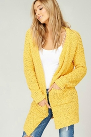 Listicle Cuddly Popcorn Cardigan - Product Mini Image