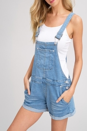 Listicle Denim Short Overalls - Side cropped