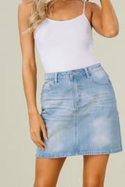 Listicle Denim Skirt - Product Mini Image