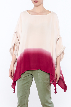 Listicle Dip Dyed Poncho - Product List Image