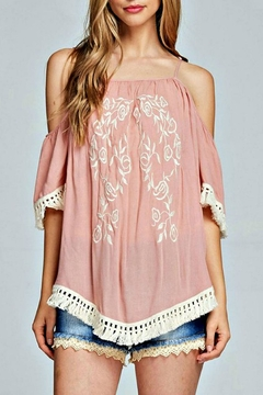 Listicle Embroidered Fringe Shirt - Product List Image