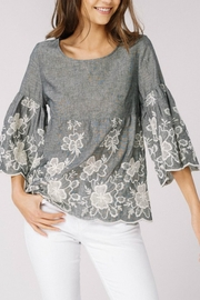 Listicle Embroidery Woven Top - Product Mini Image