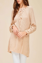 Listicle Everly Sweater Blush Top - Front full body
