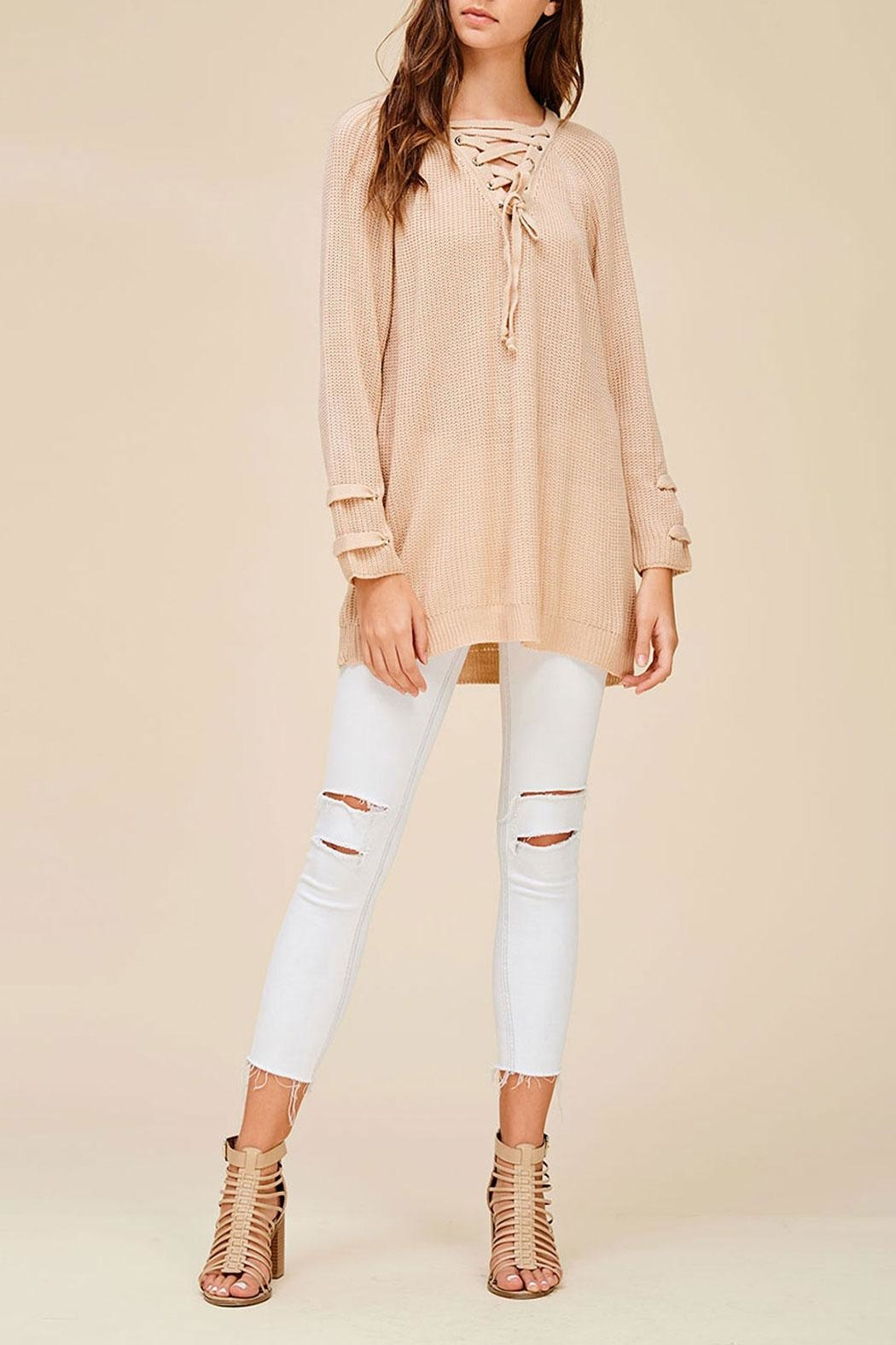 Listicle Everly Sweater Blush Top - Main Image