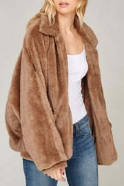 Listicle Faux Fur Jacket - Front cropped