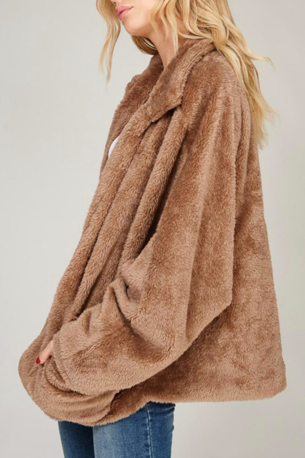 Listicle Faux Fur Jacket - Front Full Image