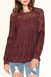 Listicle Floral Lace Top - Product Mini Image