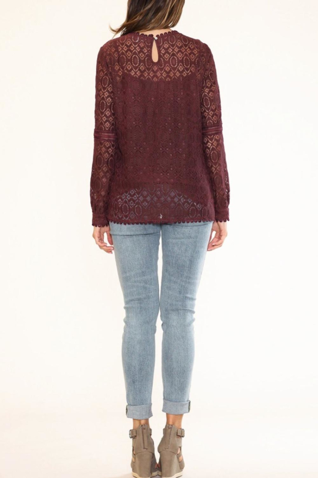 Listicle Floral Lace Top - Front Full Image